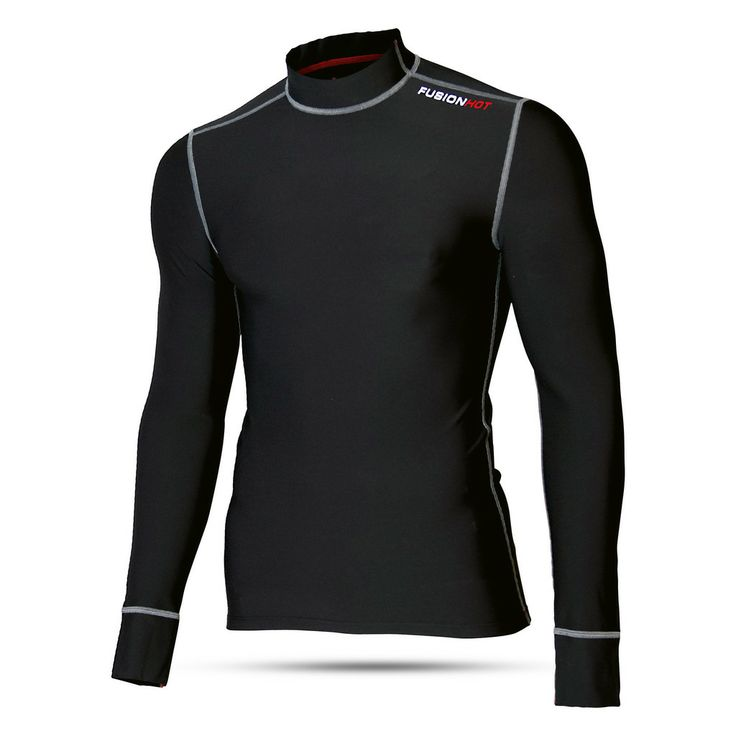 Fusion Mens Running Clothing. Mens Hot Long Sleeve Running Shirt. Warm long sleeve running shirt. Technical fabric. #running #fusionmultisport