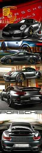 This gorgeous 991 Porsche 911 Turbo S caught my eye with the slick matte black f...