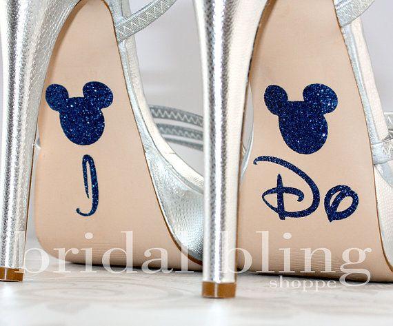 I Do Shoe Stickers For The Disney Bride by bridalblingshoppe, $7.99 FOR ME, @Jeremy Pritchett @Laura Ellen !!!! DO IT !!!!