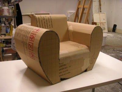 Meuble en carton recyclé