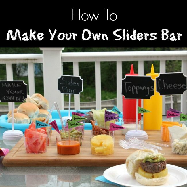 Want to learn How To Make Your Own Sliders Bar? Look no further. This customized sliders bar will make even your pickiest guests happy!