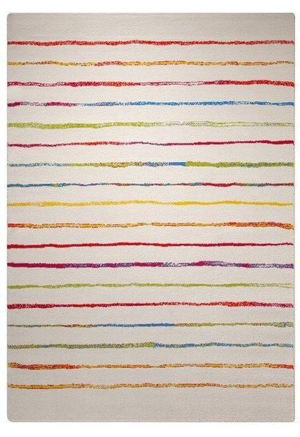 E-color - Kusové koberce - Dětský koberec Esprit Veselý proužek bílá