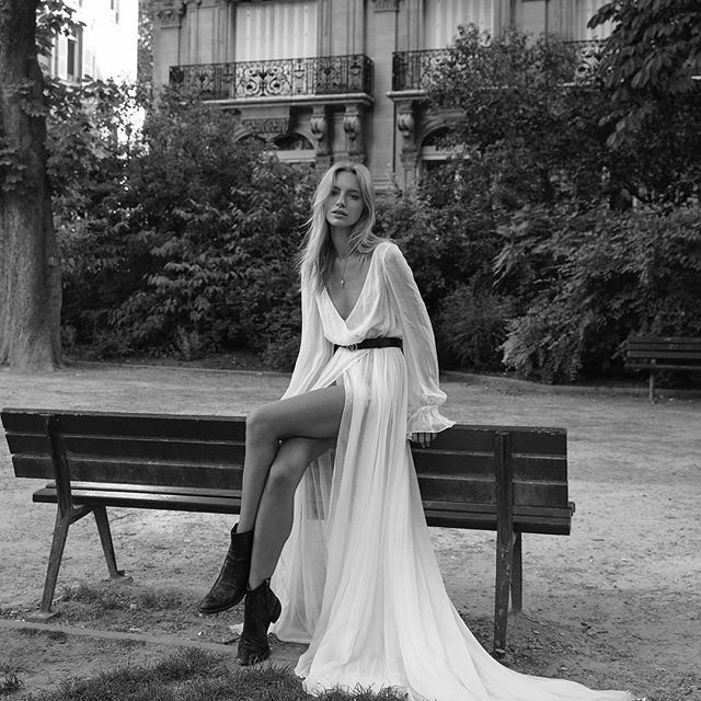 • MAGIC • When @emilyabay_photographer creates absolute magic in Paris with @mayastepper • Wearing @chosenbyoneday Celine Gown • #model #shoot #editorial #emilyabay #paris #chosen  #Regram via @onedaybridal