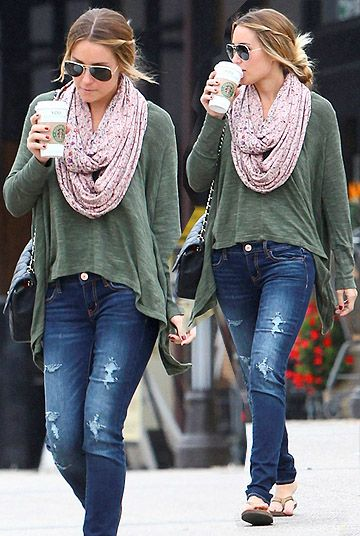 Get up and throw it on! Looks great!Fashion, Style, Clothing, Infinity Scarf, Laurenconrad, Fall Looks, Fall Outfit, Cute Outfit, Lauren Conrad Casual Outfit