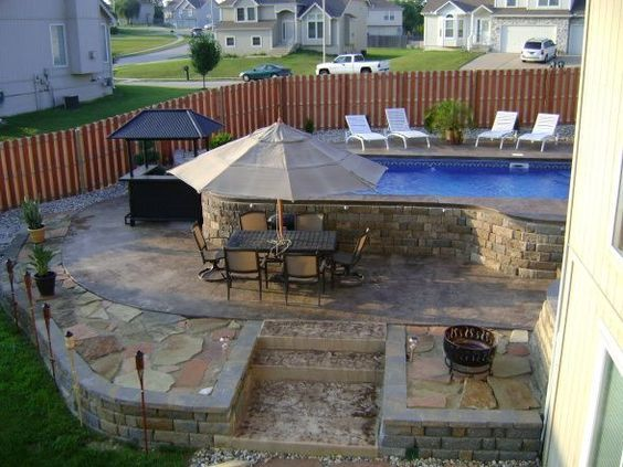 50 best semi inground pools images on pinterest | backyard ideas ... - Pool And Patio Ideas