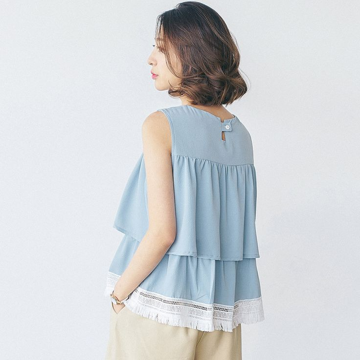 Korean fashion tassel sleeveless blouse
