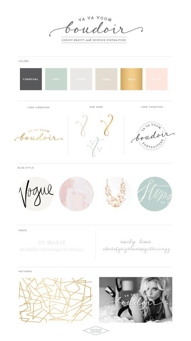A Modern Beauty Website Design :: Va Va Voom Boudoir - Saffron Avenue : Saffron Avenue