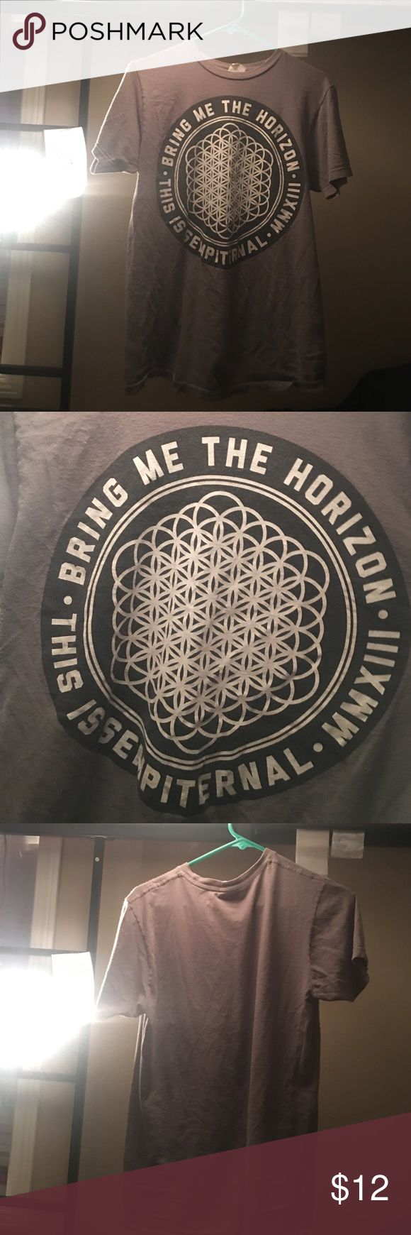 Bring Me The Horizon Sempiternal Tee Gray Bring Me The Horizon shirt with the Sempiternal album cover on the front Bay Island Tops Tees - Short Sleeve