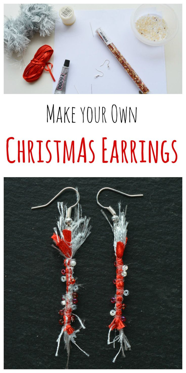 vicky myers creations » Blog Archive Transform your ribbons into Christmas earrings - vicky myers creations