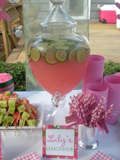 Pink lemonade to have lemons. Yellow lemonade to have limes. So pretty.