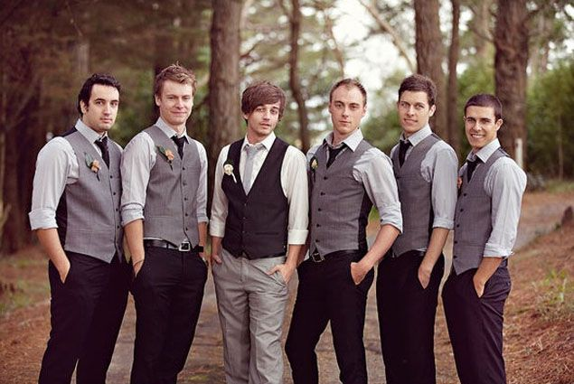 Casual Groomsmen Attire not over the top black suit and tie, but not jeans and a sweater either,. LOVE IT.