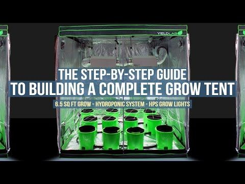 Step by Step Guide: Complete 6.5ft x 6.5ft Grow Tent Setup for Hydroponic Gardening