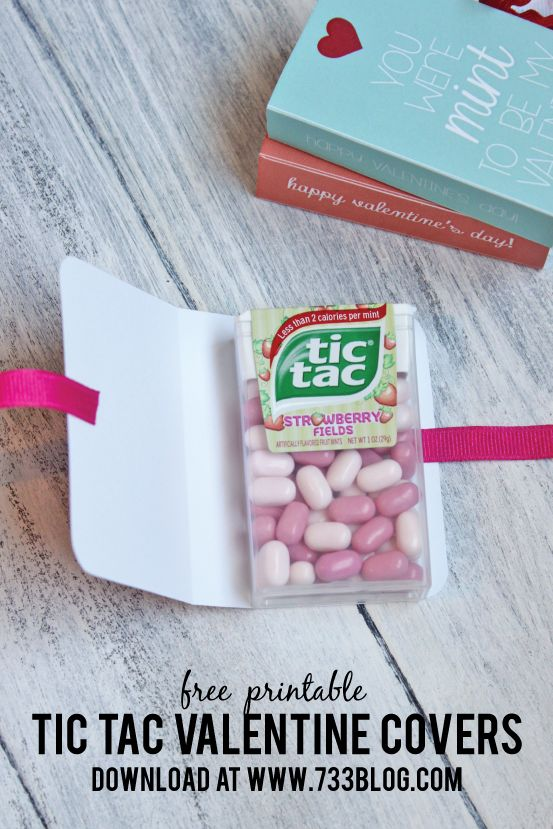 Tic Tac Valentine Free Printable from @733blog