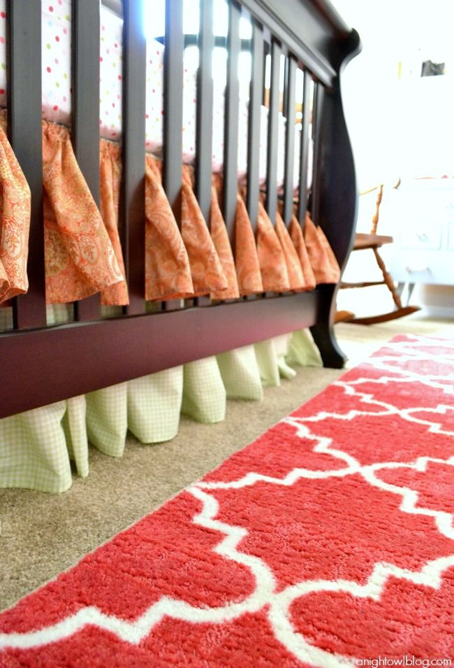 Baby Girl Nursery Ideas with Mohawk Home - I just saw this exact rug at Walmart this weekend!  So. Cute! :)