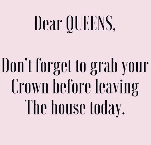 ♡Dear Queens, Don't forget to grab your crown before leaving the house today♡  ♡Breakfast at Dior♡