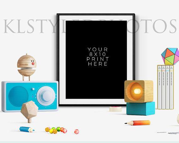 BLACK PICTURE FRAME Fancy/ Playful Fun Desk/ by KLStyledPhotos