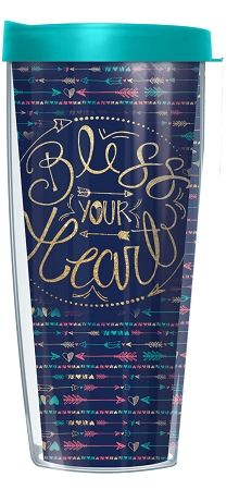 16 oz. Bless Your Heart Signature Tumbler | underthecarolinamoon.com