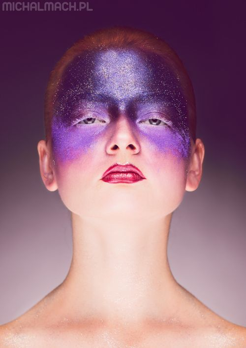 space inspired beauty make up photoshoot | Gabinet Stylu - Justyna Faliszek (mua). photo Michał Mach