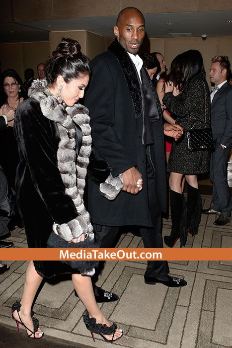 Kobe Bryant Takes His WIFE Out On A Date . . . To The GOLDEN GLOBES!! (And For The FIRST TIME . . . Vanessa Looks HAPPY)