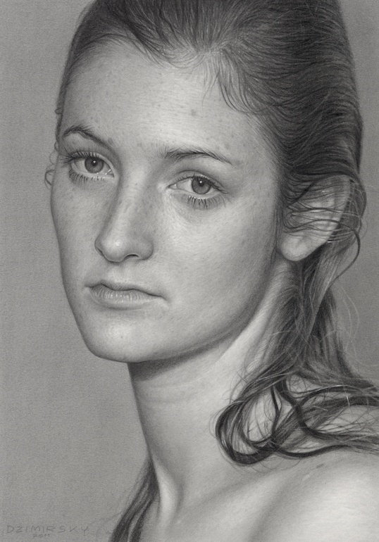 "Dirk Dzimirsky; Graphite, 2011, Drawing ""Season Change"""