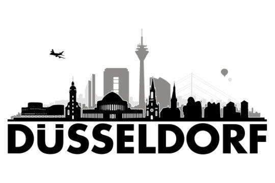 D sseldorf 3c von grafikhure wandtattoo skyline uab berlin wall stickers wandtattoo - Dusseldorf wandtattoo ...