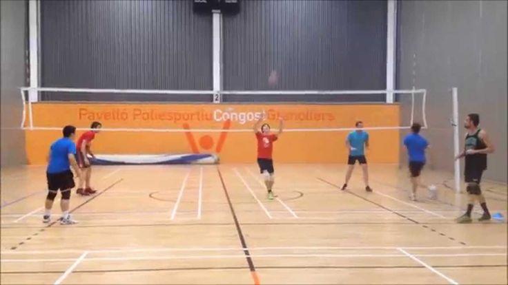 Voleibol - Ejercicio de Bloqueo y recepción en grupo