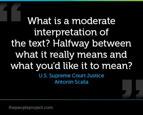 interpretation of the text