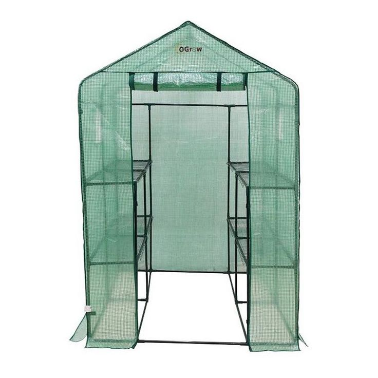 Ogrow Large 8-Shelf Walk-In Portable Lawn & Garden Greenhouse, Multicolor