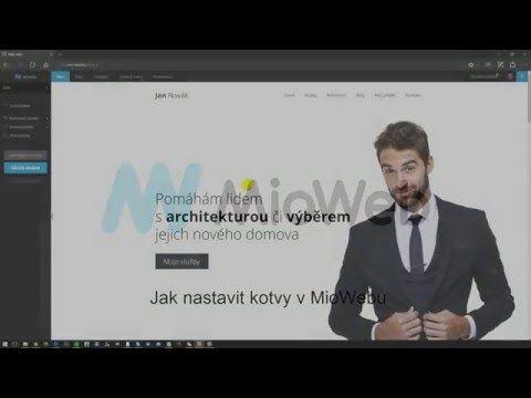 Jak nastavit kotvy v MioWebu - YouTube