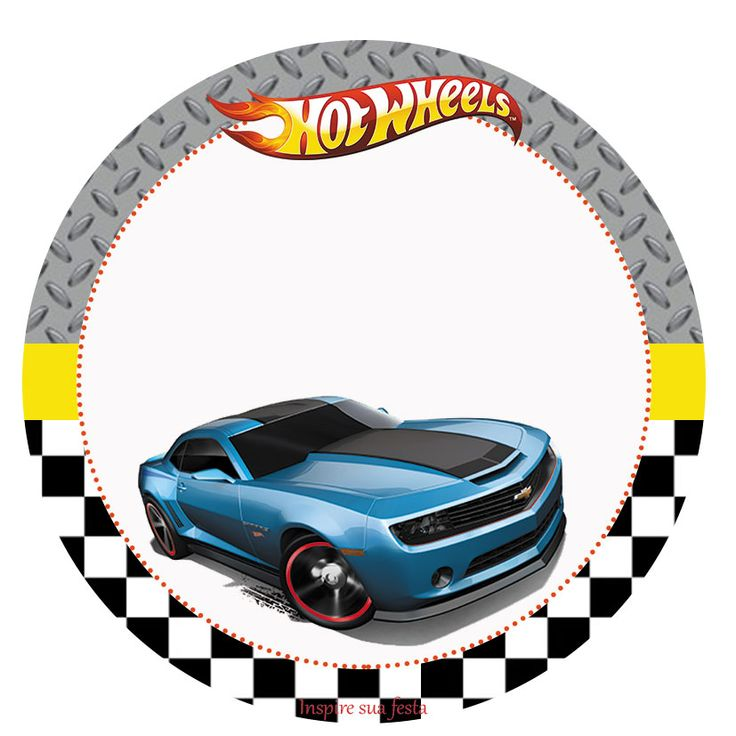 Tag ou topper para docinho ou cupcake Hot Wheels