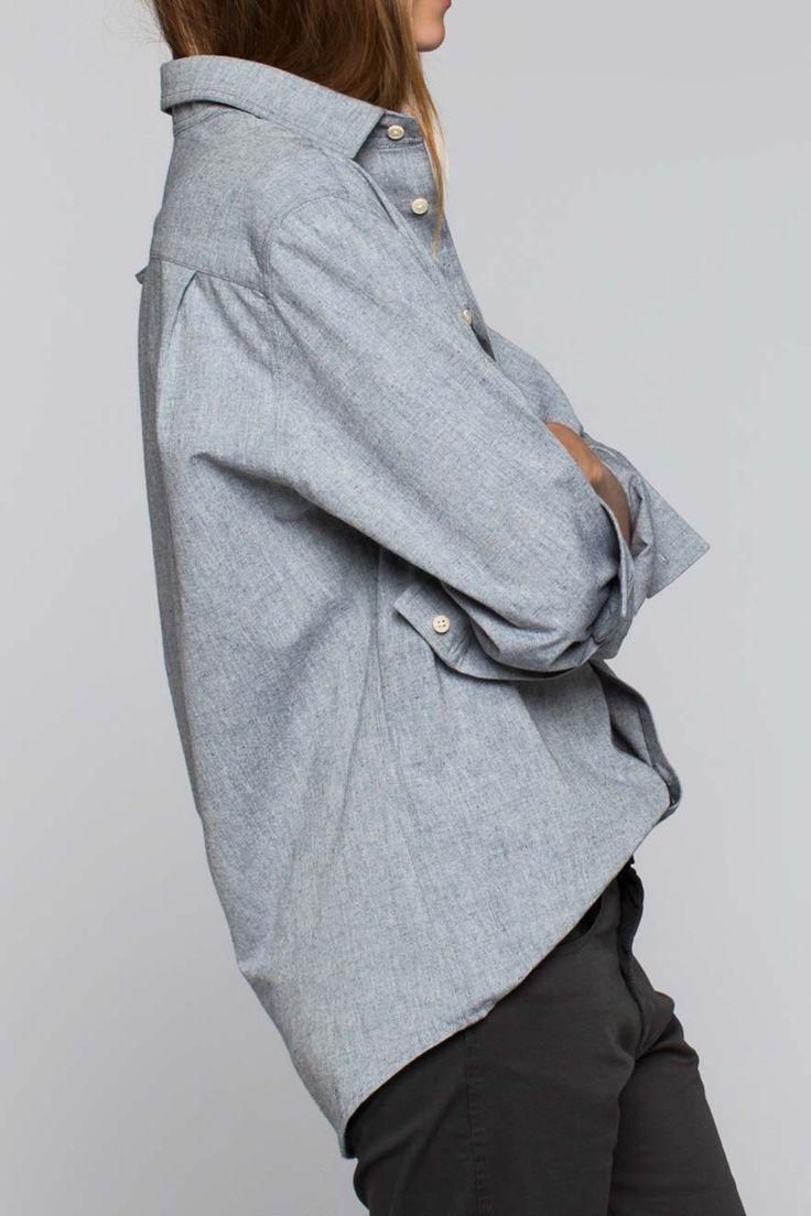 Unisex Ryan Shirt - Organic Chambray | Emerson Fry