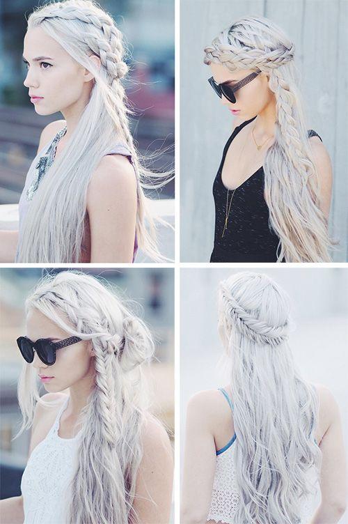 Очаровательные прически с косами