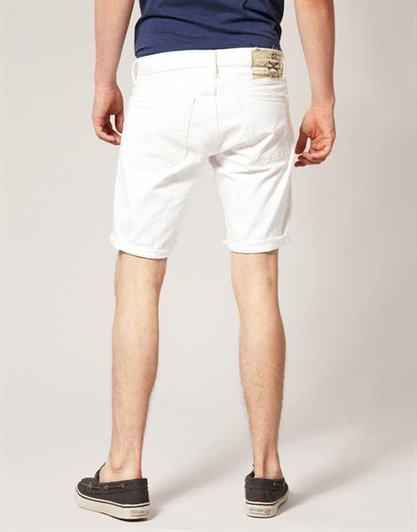 Мужские белые джинсовые шорты
