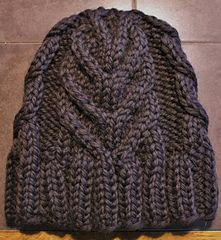 November Cabled Hat by Rachel Borello Carroll
