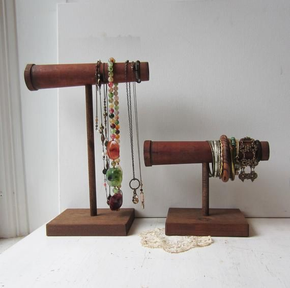 ONE Rustic Jewelry Display Necklace Holder Bracelet   Etsy