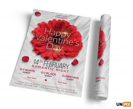 День Святого Валентина – Макет флаера