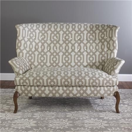 love this fabric on this settee