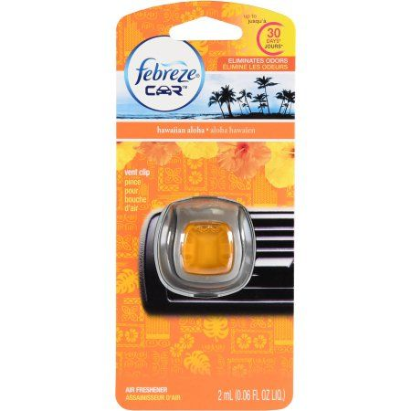 Febreze Car Vents Clips Hawaiian Aloha Air Freshener, 0.06 oz