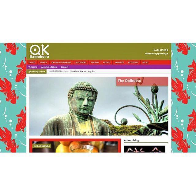 """Raymonがサイトデザイン、取材などを行っている海外からの観光客に向けた鎌倉ガイドサイトをオープンしました!  qk-kamakuraで検索してみて下さい🎉 . Raymon made japanese KAMAKURA guide site open!! Please seach """"qk-kamakura"""" . #RaymonReynolds #creativedirector #art #Design #kamakura #japanese #鎌倉 #観光 #鎌倉行きたい"""