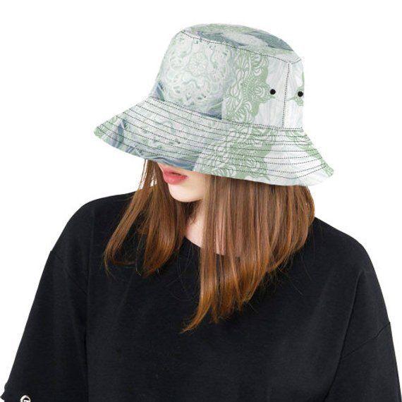 Bucket hat- women's hat-formal hat- hand painted original design- premium cotton… – Hutmodelle
