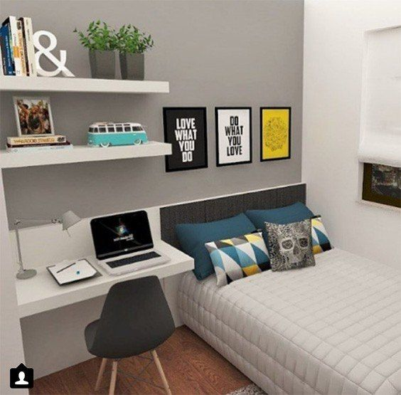 Awesome 31 Bedroom Ideas For Teenage Guys With Small Rooms ... on Teenage Guys Small Room Ideas For Guys  id=51176