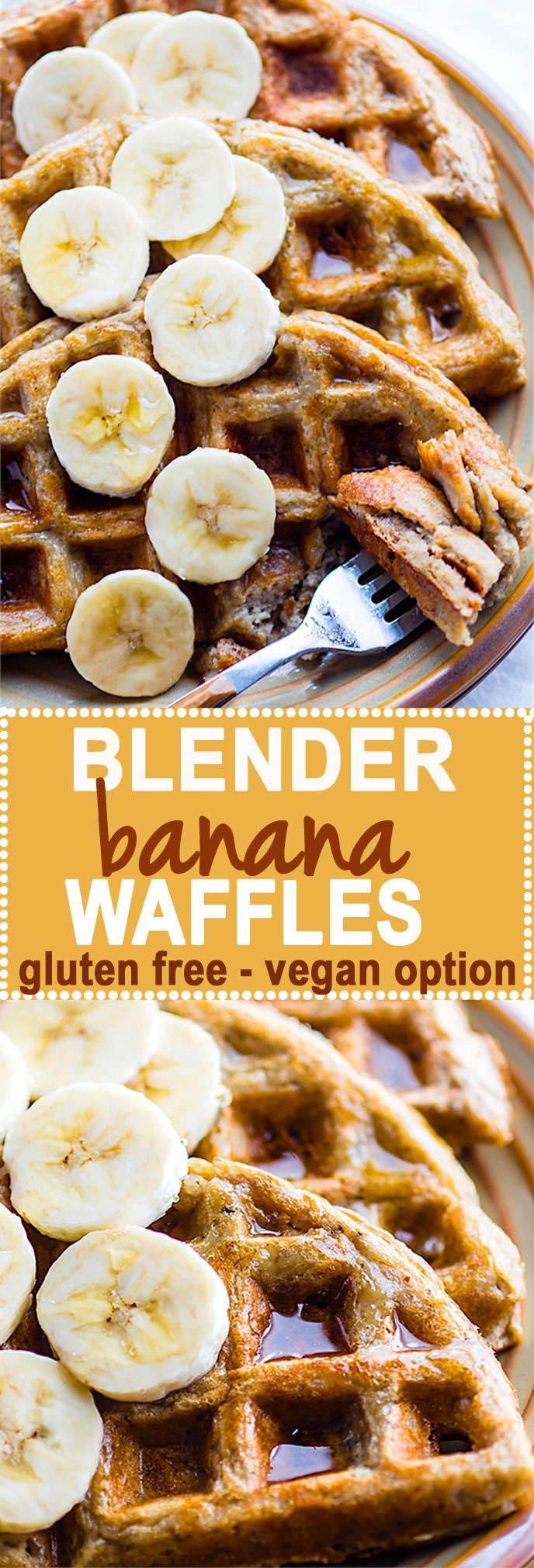 uper EASY Blender Banana Rice Gluten Free Waffles! Just blend and pour for these dairy free and gluten free Waffles. Freezer friendly, made with simple real FOOD ingredients, perfect fuel for breakfast or a delicious Weekend Breakfast. Vegan option as well! @cottercrunch