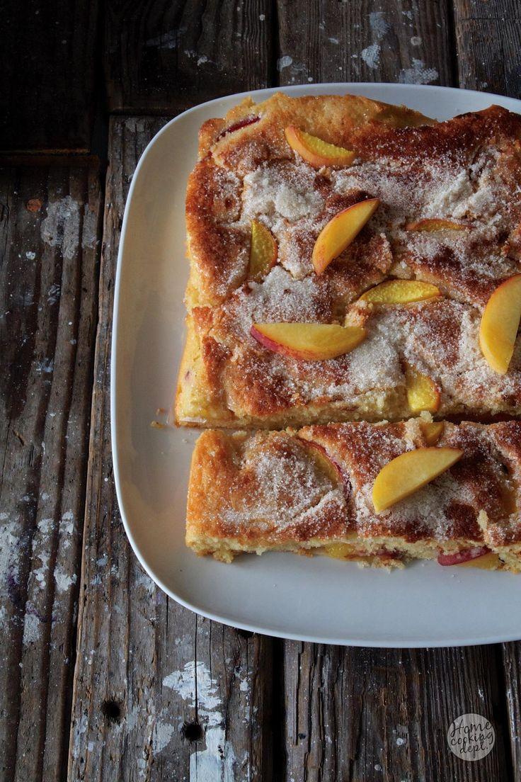 Peach cake / Perzik cake / Homecooking dept / In Dutch