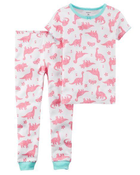 c1c1c69dde66 2-Piece Dinosaur Snug Fit Cotton PJs