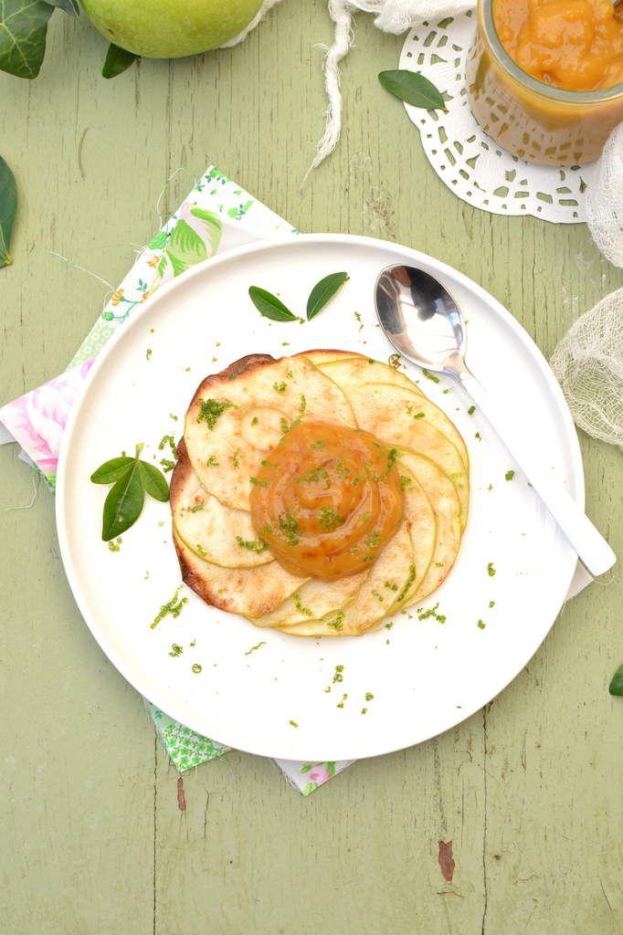 Rosaces de pommes croquantes et clementine curd - Les recettes de Juliette