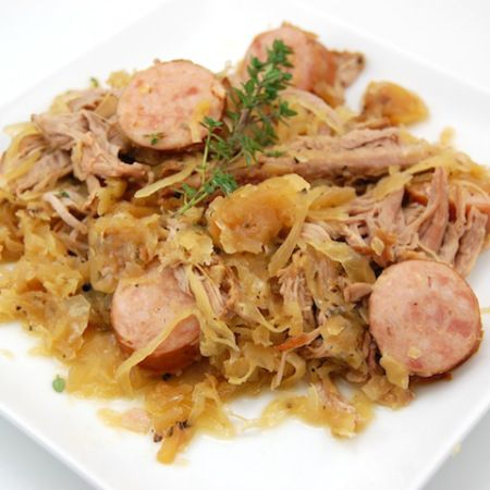 how to cook sauerkraut and kielbasa in a crockpot