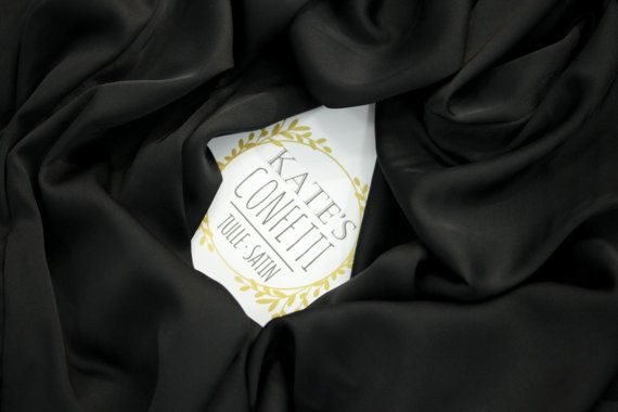 204 Black Silk Satin Fabric Lingerie Fabric Soft Luxury