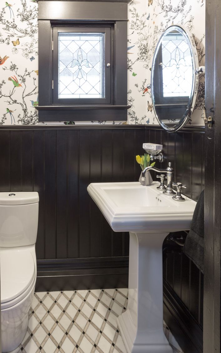 Powder Room Designed By Gillian Gillies Interiors Inc