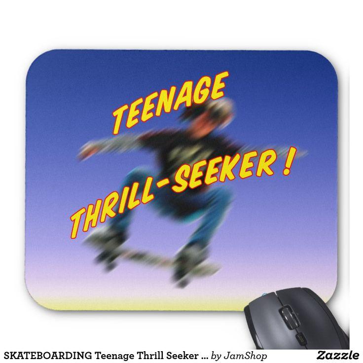SKATEBOARDING Teenage Thrill Seeker Mousepad