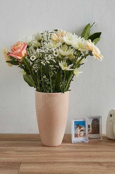 Pink Speckle Vase